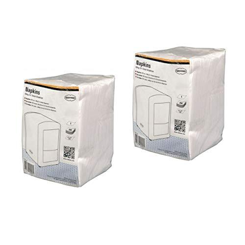 CABANAZ Original Napkins – Juego de 2 servilletas de papel para dispensador Cabanaz – Pack de 250 unidades