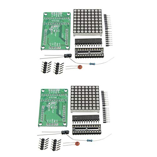 HiLetgo 2pcs MAX7219 8*8 Dot Matrix Module DIY Kit MAX7219 8x8 Common Cathode LED Dot Matrix DIY MCU Control Display Module 5V for Arduino