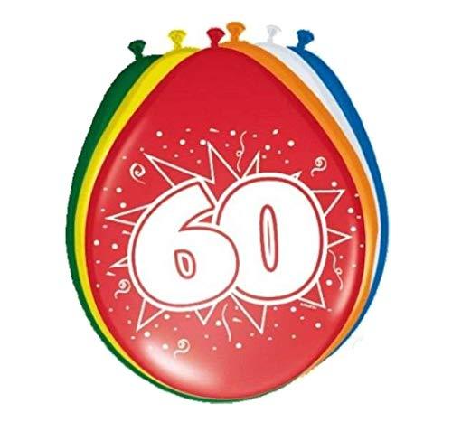 Ballonnen - 60 Jaar - 30cm - 8st.
