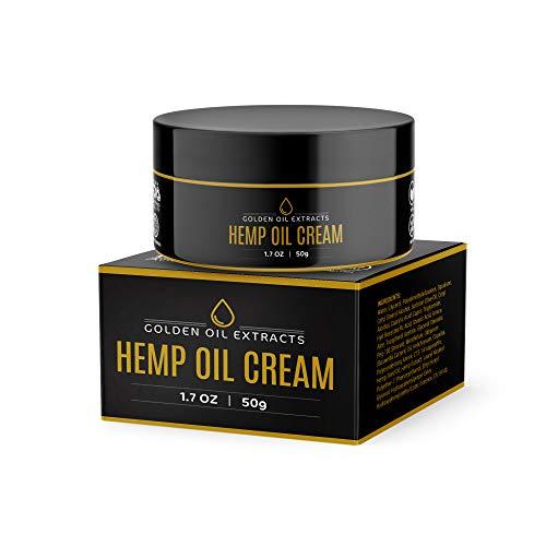 Golden Oil Extracts Hemp Seed Oil Active Relief Cream, High Strength 100% Natural Hemp Oil Gel Formula