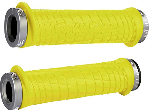 ODI D30TLY-G - Manopole MTB Bonus Pack Troy Lee Designs Grip, Colore: Giallo/Grigio, 130 mm