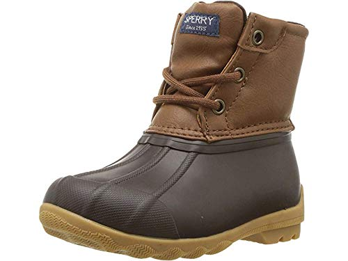Sperry unisex child Port Rain Boot, Tan/Brown, 6 Little Kid US