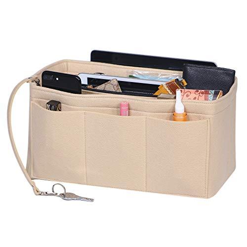 Filzeinsatz, Geldbörsen-Organizer, Filztaschen-Organizer, Damen-Handtasche, Handtasche, Tragetasche für Speedy Neverfull Longchamp Medium
