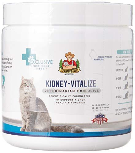 Scruffy Paws Kidney Vitalize Chews (3oz jar - 80 Chews Approx)