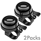 Sportout 2 Pack Bike Bell, Bicycle Bell, Loud Crisp Clear Sound for...