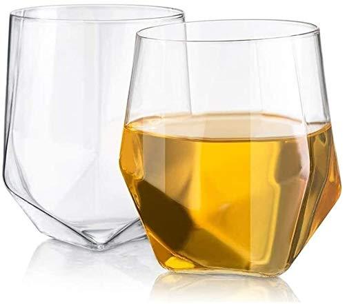 Decantadores 2 Sets Creative New Whisky Cup Cut Diamonds Libre de Vidrio de Cristal sin Plomo sin Plomo Copa de Vino