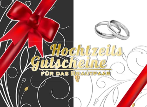 Hochtzeits Gutscheine für das Brautpaar: cooles Hochzeitsgeschenk mit Gutscheinen zum ausfüllen | lustige Aufgabe für die Gäste