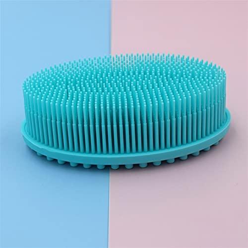 yqs Cepillo de lavandería Cabezal de Silicona Cuero cabelludo Pincel de Masaje Cepillo de Peine Peine Peinado Lavado Peine Ducha Cepillo Baño SPA SPA Pincel de Masaje (Color : Mint Blue)