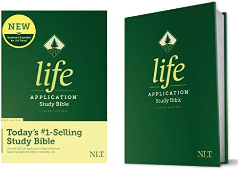 NLT Life Application Study Bible Third Edition Red Letter Hardcover Tyndale NLT Bible with Updated product image