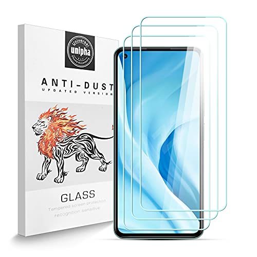 Zidwzidwei Panzerglas Schutzfolie für Xiaomi Mi 11 Lite 5G, 9H-Festigkeit Tempered Glass, Anti-Kratzer, Einfache Installation, Bruchsicher Bildschirmschutzfolie für Xiaomi Mi 11 Lite 5G [3 Stück]