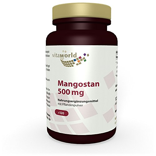 Mangostán 500mg 120 Cápsulas Vita World Farmacia Alemania - Antioxidante