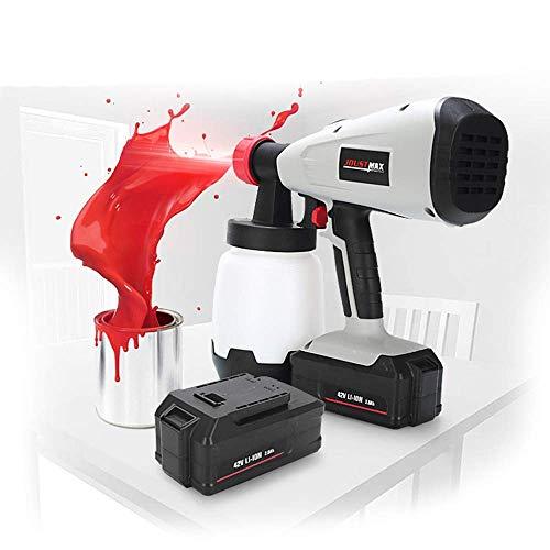 XHNXHN Zaunfarbe Sprühgerät Zoom-Spritzpistole Handheld-Spritzpistole mit feiner Oberfläche Spritzpistole für Decken, Wände und Zäune (42 V)