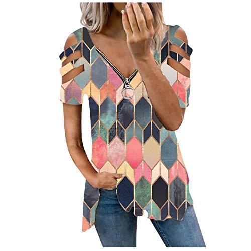 Tshirt Damen Casual Kurzarm Tee Tops Tshirt Bluse Einfachheit Tee Shirts Schmetterling Druck Casual Tshirt Sommer Oberteile Multicolor #35 Mehrfarbig