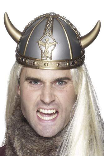 Smiffys Casco de vikingo, con cuernos