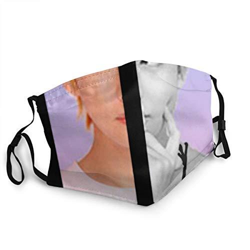 Sonickingmall Unisex Bt-S Love Yourself Suga Jungkook Jimin V Gesichtsmaske, Anti-Beschlag-Bandana-Taschentuch für Outdoor