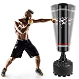 ONETWOFIT Adult 5.6FT Free Standing Boxing Punch Bag, Heavy Duty Punching Bag St