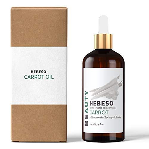 Karottenöl 100% Bio Kaltgepresst 100ml | Sichtbare, schöne Bräune | Leicht zu verteilen | schützt vor schädlichen UV-Strahlen | stellt ihre Elastizität, Weichheit und Glätte wieder her