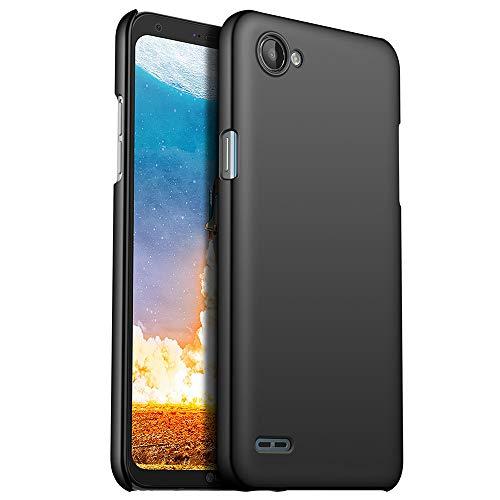 for LG Q6/Q6 Plus/Q6+ Hülle, ZUERCONG [Matte Serie] Ultra Dünn Slim Cover Case Anti-Fingerabdrücke Anti-Scratch Shockproof Handytasche Hartplastik Schutzhülle für LG Q6/Q6 Plus/Q6+, Glattes Schwarz