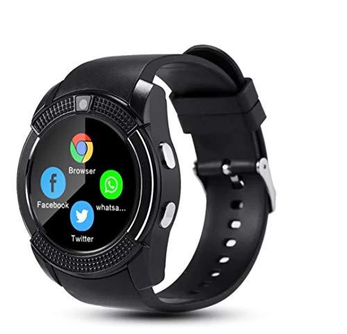 Smart Watch V8 (zwart) SIM-kaart: ondersteunt micro-simkaart en extender GB geheugenkaart, selecteer de SIM-kaart vrij of trough bluetooth van de mobiele telefoon.