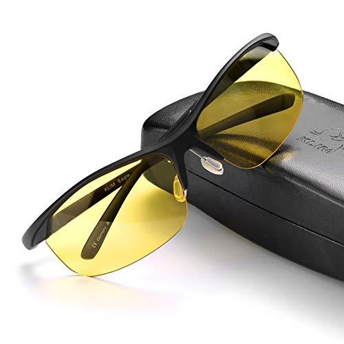 KLIM Eagle - Gafas de conducción para Hombre y Mujer + Mejoran la visión Nocturna y Seguridad al Volante + Gafas polarizadas con protección UV para Conducir, Exterior, Deportes + Nuevas 2020