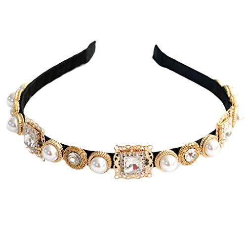 Yinuiousory Damen-Haarreif, für Bankett, Ball, Legierung, Kunstdiamanten, Barock, Vintage-Stil, verziert
