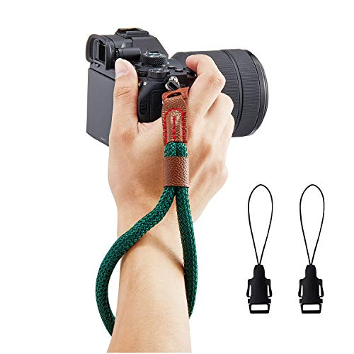 WANBY Camera Soft Cotton Hand Wrist Strap with Quick Release Buckle for DSLR SLR