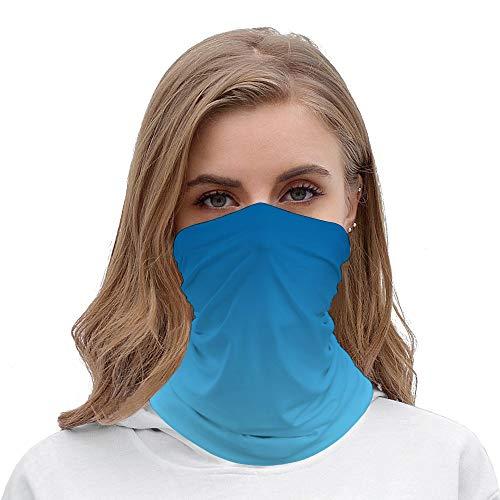 Unisex Seamless Face Mask Bandanas Neck Gaiter Tube Headwear Bandana, Dark blue ombre Face Mask Bandanas for Dust, Motorcycle Face Bandana for Women M