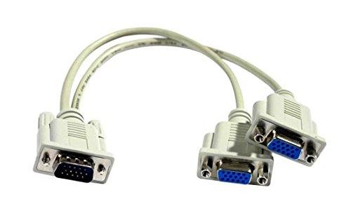 VGA Y-Kabel zum Anschluss von z. B. Beamer und Monitor an einem PC