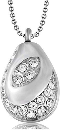 Collar de cenizas Joyería de recuerdo Perfume de acero inoxidable Colgante grande Diamante Animal Urna Colgante Aceite esencial Botella de perfume Encanto