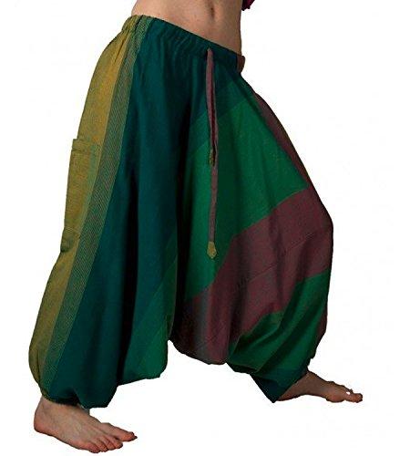 Kunst und Magie - Pantaloni da Harem unisex, taglia unica multicolore Taglia Unica