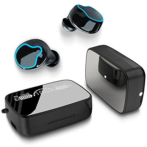 NAUC Kopfhörer TWS M9 kompatibel für Samsung Galaxy S21 Plus Ultra 5G In-Ear Ohrhörer Headset Kabellos Bluetooth 5.1 LED Anzeige Wireless Touch Control