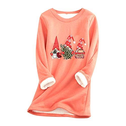 Langarmshirts Damen Verdickte Plus Samt Lammwolle Warme Strammes Shirt Boden...