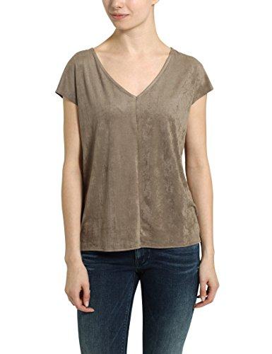 Berydale Damen-T-Shirt mit V-Ausschnitt, Taupe, XS