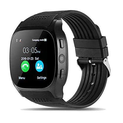 SJUTALR Orologio Sportivo 2019 Nuovo Bluetooth Smart Watch Orologio Sportivo Supporto SIM TF Card LBS Location Radio FM con pedometro Fotocamera 0.3MP per Android, Blu