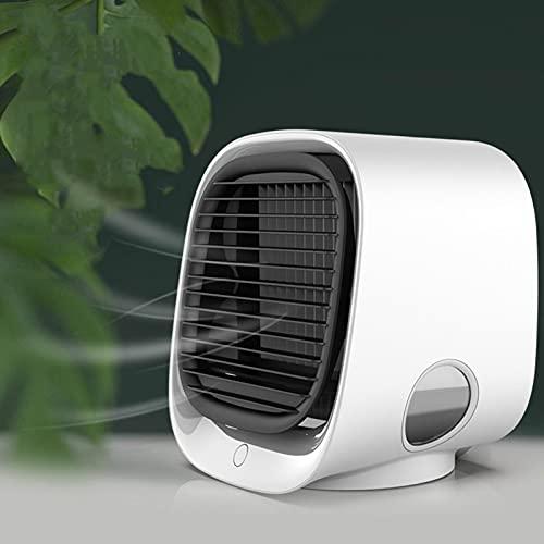 Mini Desktop Air Cooler Home Office Piccolo Ventilatore di Aria Condizionata USB Umidificante Ventola di Raffreddamento Ad Acqua Bianco