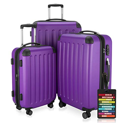 Hauptstadtkoffer, Spree hard-shell suitcase with combination lock and a luggage tag, 1203, aubergine (Purple) - HK1203-VL-SALE+KA