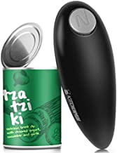 Electric Can Opener, Safe Smooth No Sharp Edges Can Opener for Almost Size Can, Best Gift for Women, Senior with Arthritis, Fits Perfect in Drawer (Black)