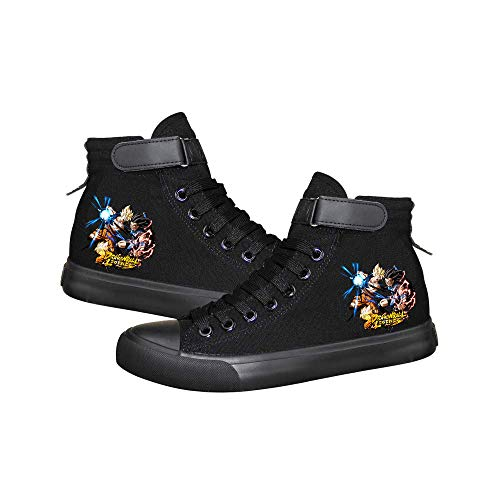Dragon Ball Zapatillas Moda Zapatos de Lona Zapatillas de Deporte Casuales Deportivas Deportivas Unisex Tallas Grandes con Cordones