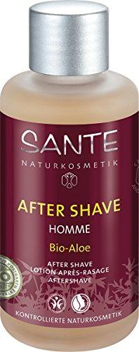 SANTE Naturkosmetik Homme After Shave Bio-Aloe für Männer, 100ml