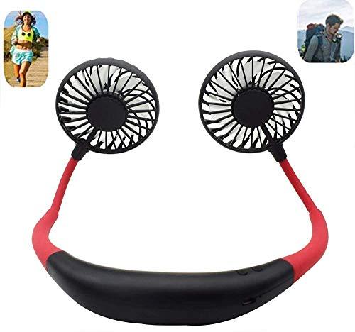 Ventilador de mano USB para el cuello, ventilador portátil, ventilador de cuello...
