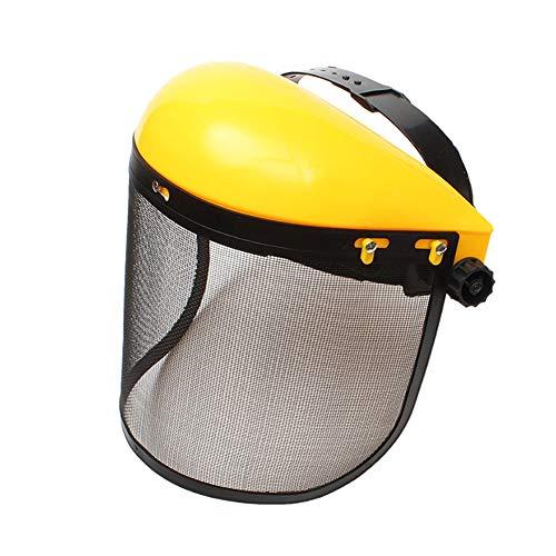 YingKu - Sombrero de casco de diarios, máscara de seguridad, protección integral con visera de malla para motosierra, jardinería forestal, desbrozadora forestal