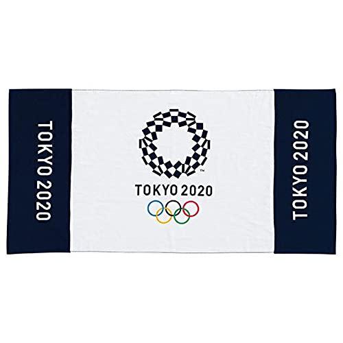 東京2020公式ライセンス商品 ミニバスタオル 東京2020 オリンピック エンブレムヨコ柄 1905013600