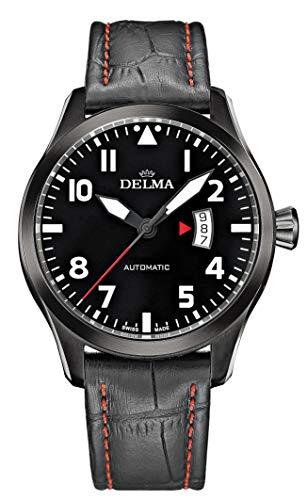 Delma Flieger-/Herrenuhr Automatik, analog, Lederarmband - 407040