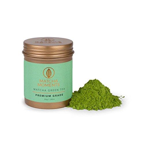Thé Matcha Japonais | Thé Vert en Poudre au Japon | Renforce le Système Immunitaire | Matcha Green Tea from Japan | Idéal à Boire, pour Cuisiner et dans le Lait | Matcha Moments (30 GR)