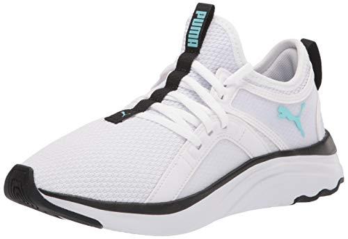 PUMA Women's SOFTRIDE Sophia Running Shoe, White-Angel Blue Black, 7.5