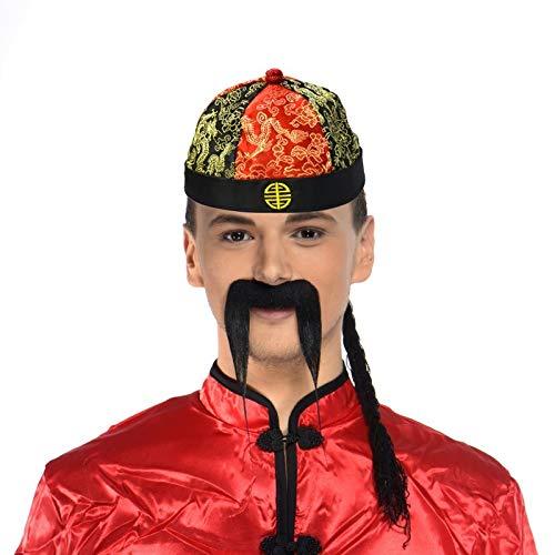 Chapeau Mandarin en tissu avec tresse
