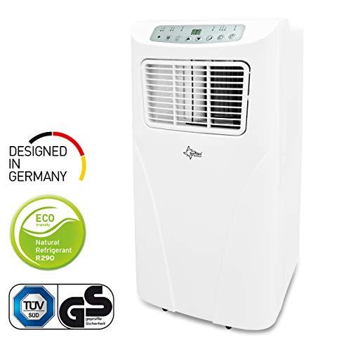 Mobiles lokales Klimagerät Fresh 7.000 Eco R290 | geeignet für Räume bis 25 m2 | inkl. Abluftschlauch | Kühler und Entfeuchter mit ökologischem Kühlmittel R290 | 7.000 BTU/h | Suntec Wellness