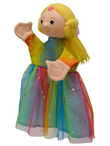 MUBRNO 22096A Prinzessin-Regenbogen Textilhandpuppe, Mehrfarbig