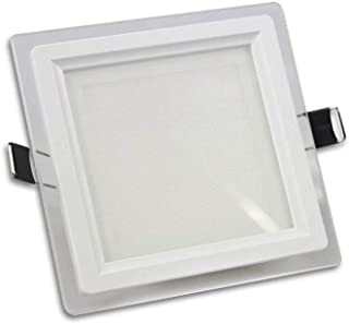 F52 Luce bianca fredda 6500k Vetrineinrete/® Faretto 1 led COB ad incasso 3 watt mini spot punto luce tondo luce bianca 6500k calda 3000k e naturale 4000k driver 220v con bordo bianco