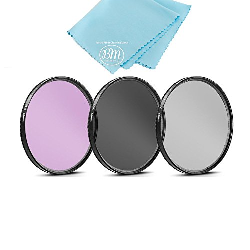 58mm Multi-Coated 3 Piece Filter Kit (UV-CPL-FLD) for Select Canon, Nikon, Sony, FujiFilm, Olympus, Pentax, Sigma, Tamron Digital Cameras, SLR Lenses, and Camcorders + Microfiber Cleaning Cloth